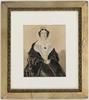 Anna J[osepha] King / watercolour portrait by William Nicholas