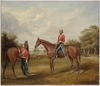 [Captain Frederick John Butts and a fellow officer of the 77th (East Middlesex) Regiment of Foot, Hyde Park, Sydney], 1858 / Joseph Fowles