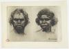 Gin, Native, Bombala N.S.W. ; Male, North Coast N.S.W. / etching by B. E. Minns
