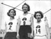 Decima Norman, Jean Coleman and Eileen Wearne win all 3 medals in the 220 yard sprint for Australia, Empire Games, Sydney