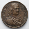 Item 1145a: Isaac Newton medal, [between 1642 and 1727]