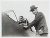 Wing Commander L.J. Wackett, who designed Australia's new fighter-interceptor ... with the test pilot, Mr Ken Frewin