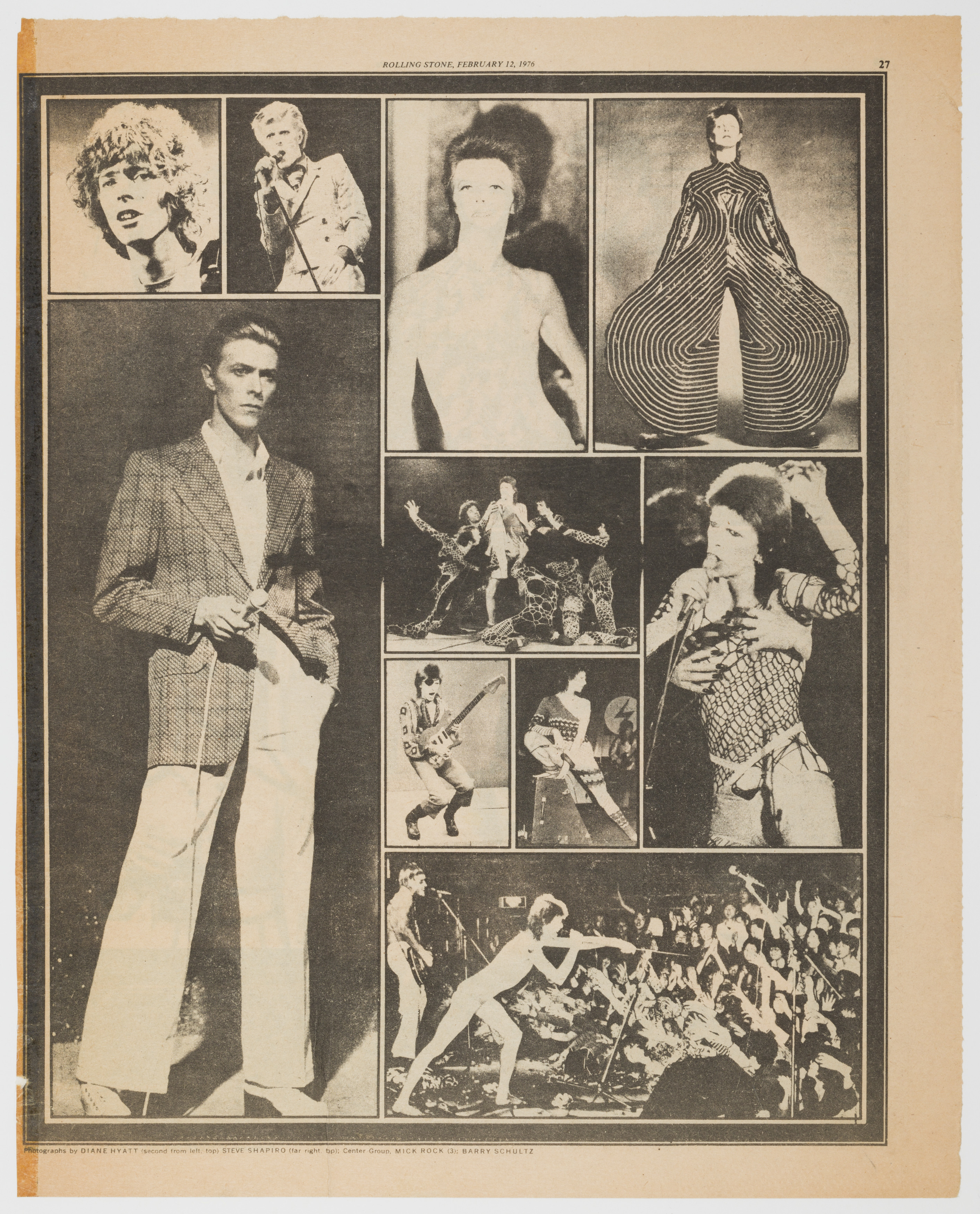 David Bowie, Rolling Stone, 12 February 1976