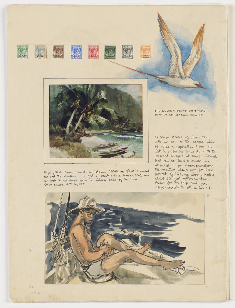 Stamps, seagull & navigator [Jack Day]: Kathleen's Voyage: Thursday Island to Christmas Island: July-August 1947: Volume 2