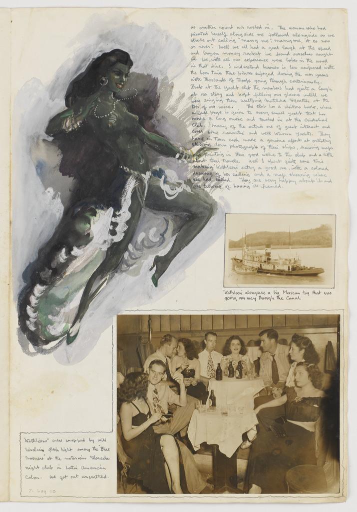 A magnificent night club dancer: Isla Colón: Kathleen's Voyage: Jamaica, Panama Canal and on to Fakarava Atoll and Tahiti: 1948: Log 10