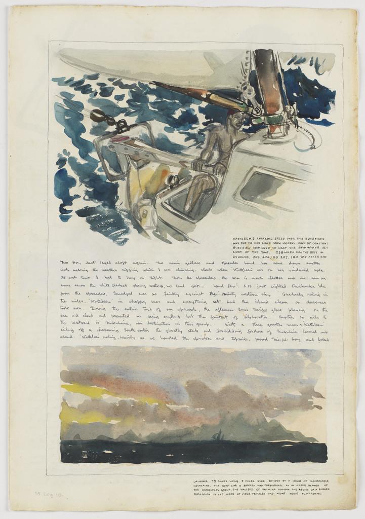 Kathleen's amazing speed over 3050 miles…: Kathleen's Voyage, Jamaica, Panama Canal and on to Fakarava Atoll and Tahiti: 1948: Log 10