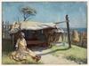 [Aboriginal woman beside humpy, La Perouse], 1929 / painting by Joseph Wolinski
