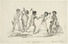 "Natives of ""New South Wales"" 1849 - Botany Bay Tribe / lithograph published by Edward David Barlow"