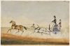 Mortimer William Lewis out driving, c.1838-1840 / [watercolour attributed to Edward Winstanley]
