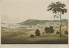 The South West view of Hobart Town Van Diemens Land, [ca. 1819?] / by G.W. Evans, engraved by R. Havell & Sons