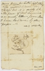 Anna Josepha King - miniature map 'A Plan of Port Famine 1827' drawn by Philip Gidley King (the younger) when nine years old, received from Phillip Parker King, 1829, together with explanatory note by Anna Josepha King