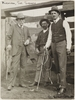 Group portrait of three males, including Sir Sidney Kidman, at Kapunda, ca. 1912-1914 / photograph by Charles A. Petts
