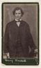 Henry Kendall, poet, 1880's copy of a ca. 1870 carte de visite / photographer Federal Studio, Melbourne
