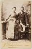 Richard and Elizabeth Geeves of Geeveston, 1880's / photographer J. Bishop-Osborne, Hobart