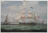 View of the ship Elora, 1833 / painted by William Clark