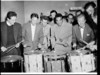 Swing drummer Gene Krupa at either Kingsford-Smith Airport or Rex Hotel, Sydney