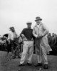 Norman von Nida and Bob Hope play golf