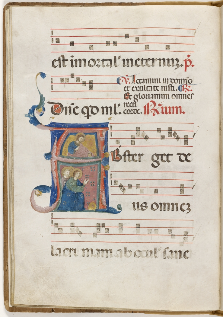 Antiphonal: Common of the Saints illustrated by Neri da Rimini. Italy, 1328