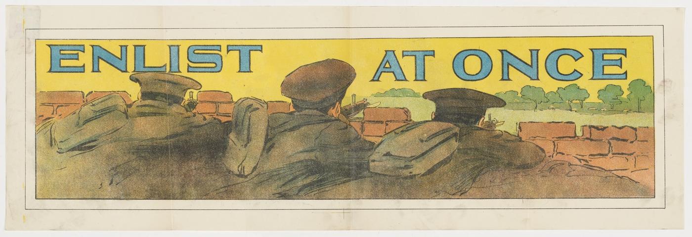 World War One conscription poster
