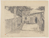 "Pencil Study for etching ""Deserted Courtyard, Hartley"" New South Wales. [A view], before 1920 / Sydney Ure Smith"