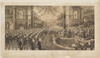 H.R.H. the Duke of Cornwall and York `Opening the 1st Commonwealth Parliament of Australia May 9th 1901', 1902 / painted by Chas Nuttall