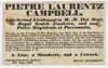 Placard proclaiming Pietre Laurentz Campbell to be a 'a liar, a slanderer and a coward', 31 May 1838 / Henry McDermott [sic]