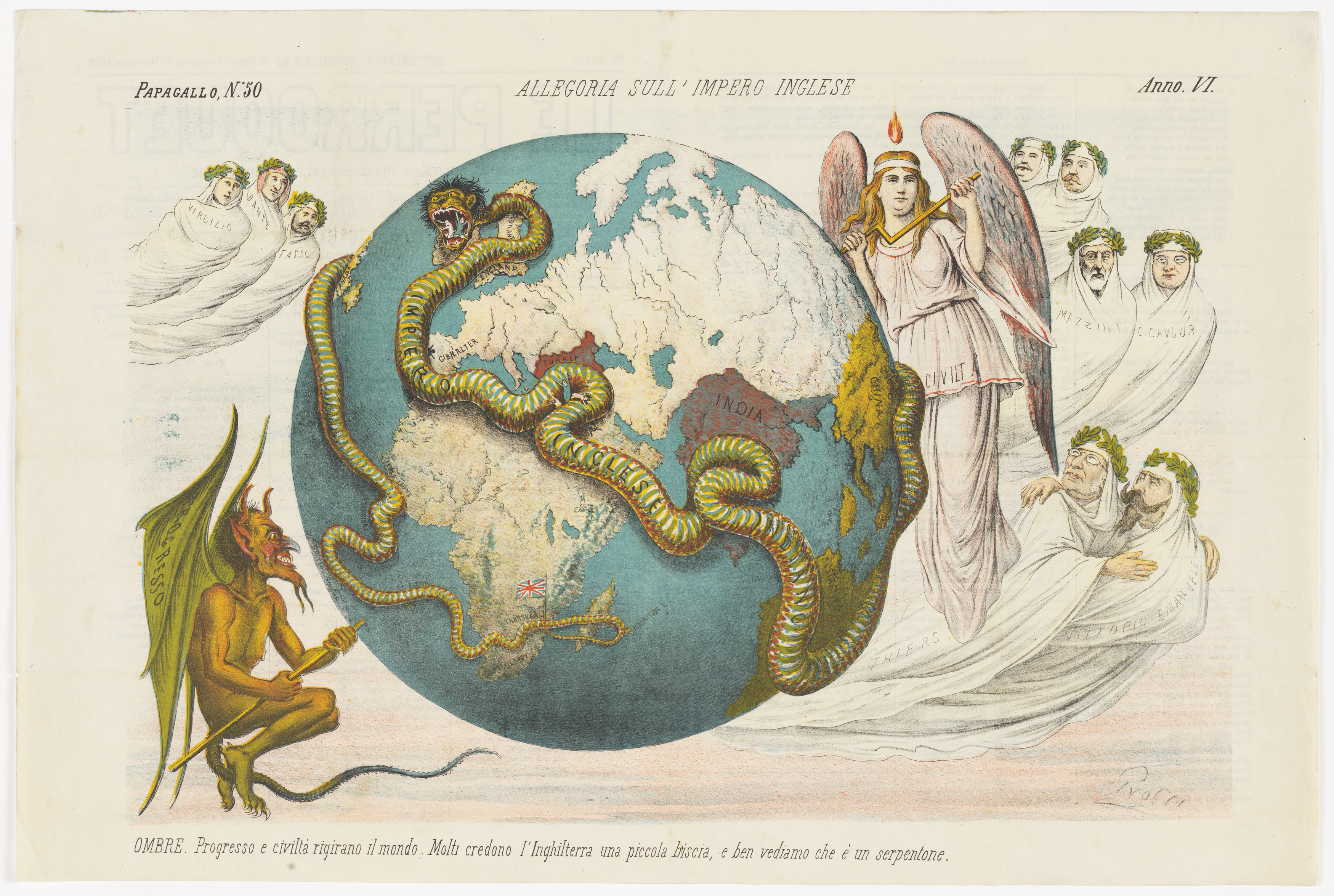 An allegory of the British Empire | State Library of NSW